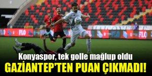 Konyaspor, Gaziantep'ten puan çıkaramadı!