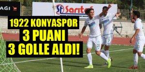 1922 Konyaspor, 3 puanı 3 golle aldı!