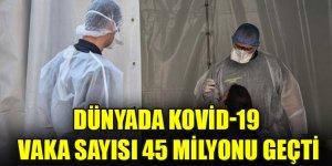 Dünyada Kovid-19 vaka sayısı 45 milyonu geçti