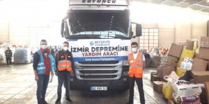Yardım tırı İzmir'e ulaştı