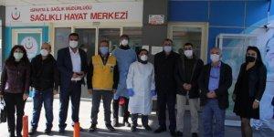 Yerel medya çalışanlarına Kovid-19 testi yapıldı
