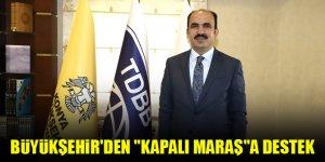 """Konya Büyükşehir Belediyesinden """"Kapalı Maraş""""a destek"""