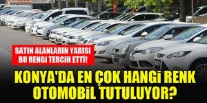Konya'da en çok hangi renk otomobil tercih ediliyor?