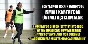 Konyaspor Teknik Direktörü İsmail Kartal: İşler yolunda gidiyor