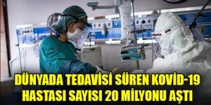 Dünyada tedavisi süren Kovid-19 hastası sayısı 20 milyonu aştı