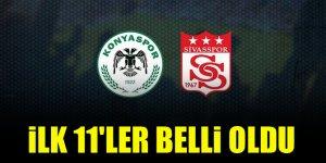 Konyaspor - Sivasspor   İLK 11'LER