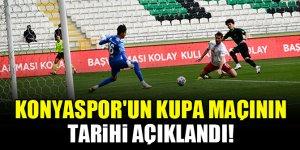 Konyaspor'un kupa maçının tarihi açıklandı!