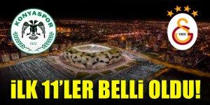 Konyaspor - Galatasaray | İLK 11'LER!