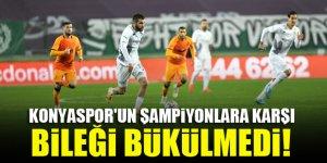Konyaspor'un şampiyonlara karşı bileği bükülmedi!
