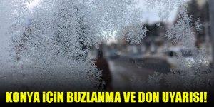 Konya için buzlanma ve don uyarısı!