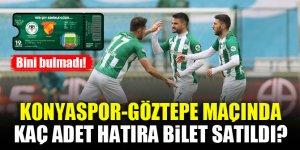Konyaspor-Göztepe maçında kaç adet hatıra bilet satıldı?