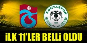 Trabzonspor - Konyaspor | İLK 11'LER!
