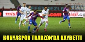 Konyaspor Trabzon'da kaybetti
