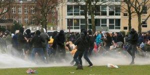 Hollanda'da sokağa çıkma kısıtlamasının dördüncü gününde protestolar sürüyor