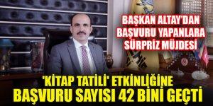 Konya'da 'Kitap Tatili' etkinliğine başvuru sayısı 42 bini geçti! Başkan Altay'dan başvuru yapanlara sürpriz müjdesi
