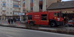 Konya'da evde çıkan yangın büyümeden söndürüldü