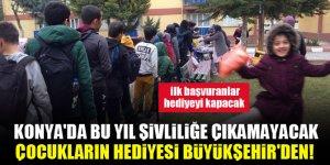 Konya'da bu yıl şivliliğe çıkamayacak çocukların hediyesi Büyükşehir'den! İlk başvuranlar hediyeyi kapacak