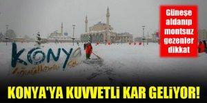 Güneşe aldanıp montsuz gezenler dikkat! Konya'ya kuvvetli kar geliyor