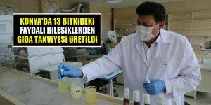 Konya'da 13 bitkideki faydalı bileşiklerden gıda takviyesi üretildi