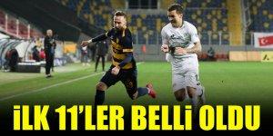 Konyaspor - Ankaragücü | İLK 11'LER BELLİ OLDU