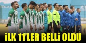 Rizespor - Konyaspor   İLK 11'LER BELLİ OLDU
