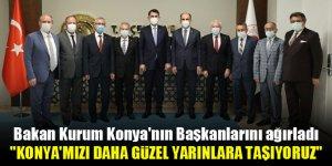 Bakan Kurum Konya'nın Başkanlarını ağırladı