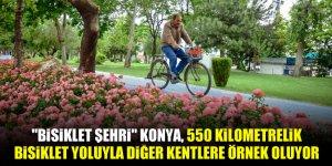 """""""Bisiklet şehri"""" Konya, 550 kilometrelik bisiklet yoluyla diğer kentlere örnek oluyor"""