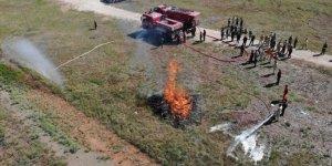 Konya yangınla mücadele eden ekiplere eğitim veriliyor