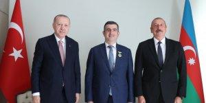 Cumhurbaşkanı Aliyev, Haluk Bayraktar'a 'Karabağ Nişanı' verdi