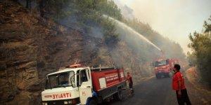 Mersin'de iki ilçede çıkan orman yangınlarına müdahale sürüyor