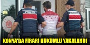Konya'da firari hükümlü yakalandı