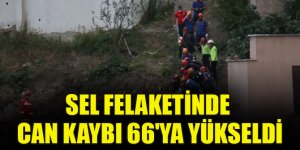 Sel felaketinde can kaybı 66'ya yükseldi