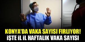 Konya'da vaka sayısı fırlıyor! İşte il il haftalık vaka sayısı