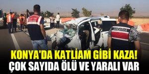 Konya'da katliam gibi kaza! Çok sayıda ölü ve yaralı var
