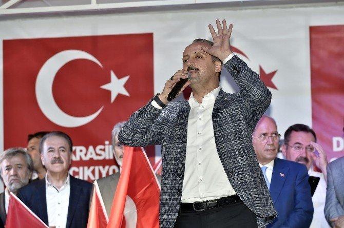 Ankaralı başkanlar demokrasi nöbetinde