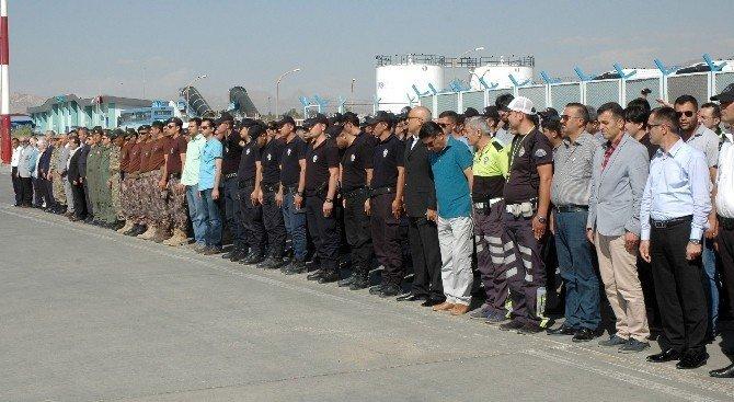 Şehit polislere uğurlama töreni