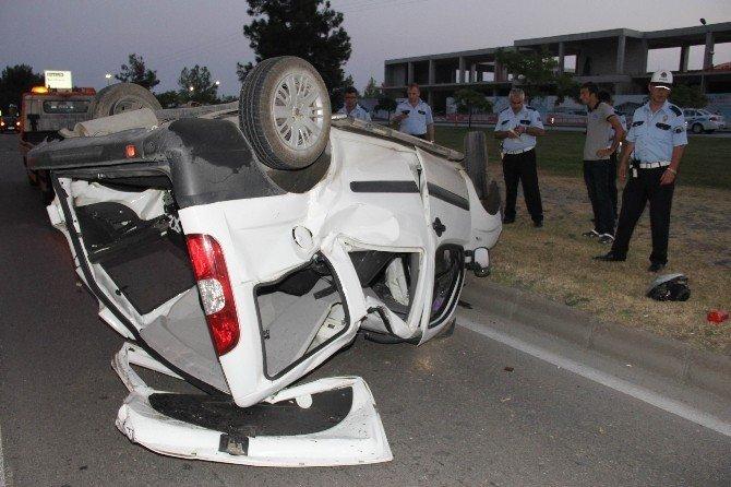 Samsun'da kamyonet takla attı: 1 yaralı
