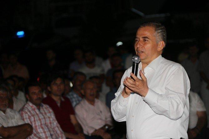 Başkan Zolan, Honaz halkıyla demokrasi nöbetinde