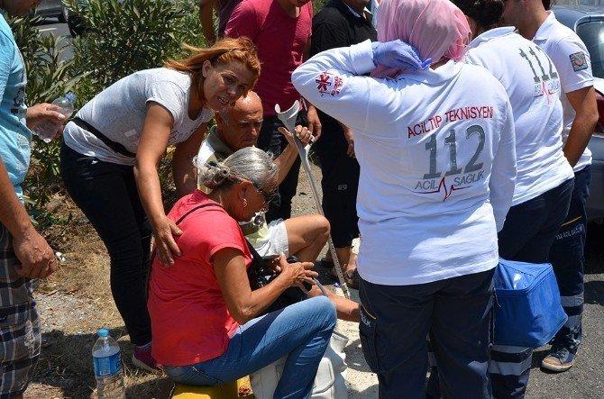 Milas'ta engelli sürücü TIR'a çarptı; 2 yaralı
