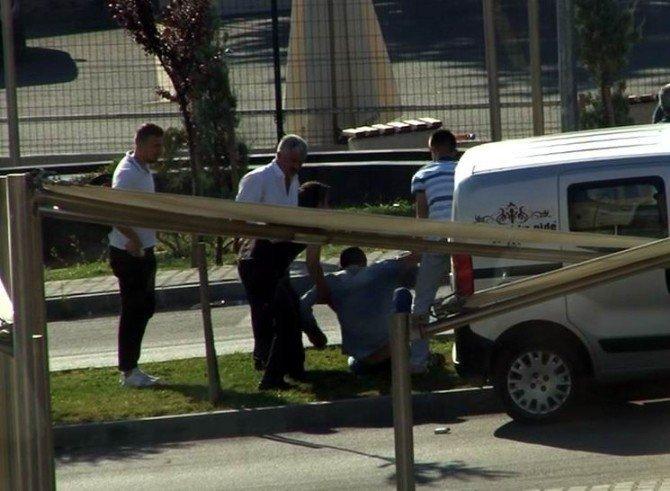 Bursa'daki tekme tokat kavga böyle görüntülendi