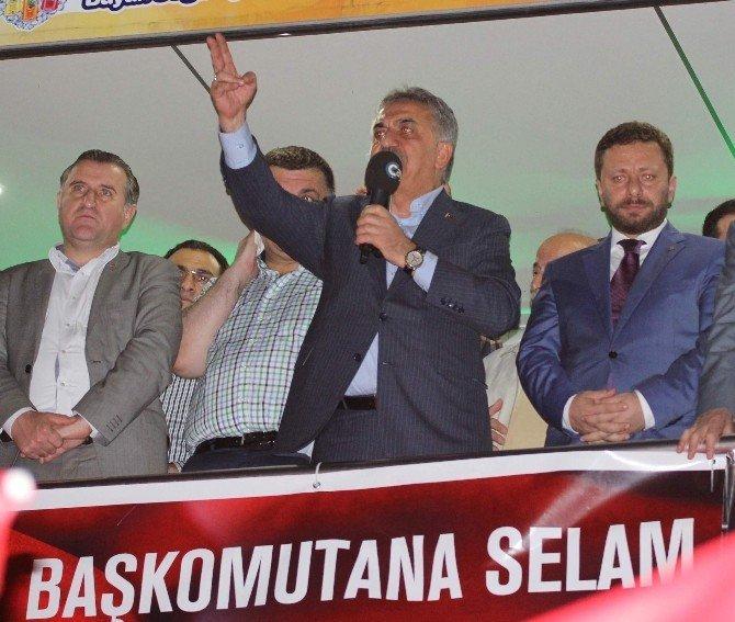 Rize'de demokrasi nöbeti sürüyor…