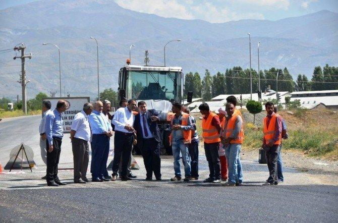 Köy yolları sıcak asfalt ile kaplanıyor