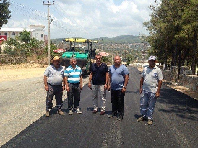 Türkler-Akdam arasına sıcak asfalt
