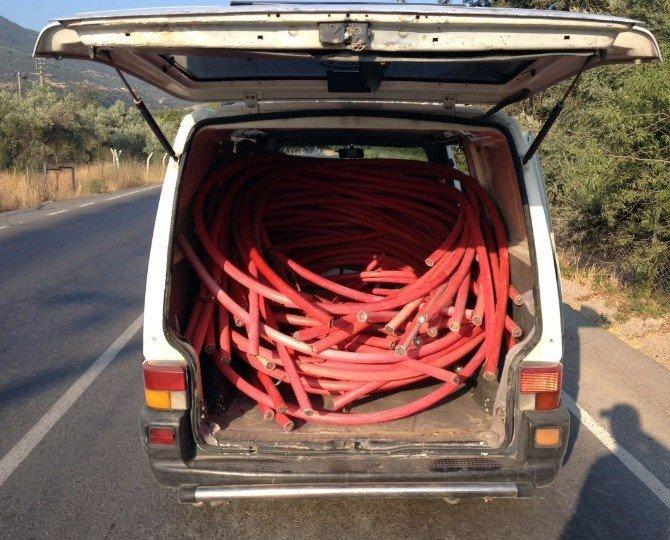 Jandarmadan kablo hırsızlarına amansız takip
