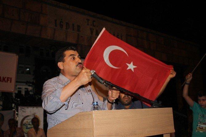 Iğdır'da demokrasi mitingi