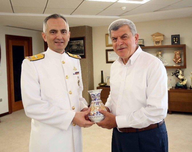 Tuğamiral Tok, Başkan Karaosmanoğlu'nu ziyaret etti