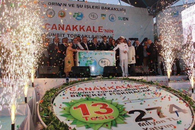 Çanakkale'de 274 milyon TL'lik tesisin temeli atıldı