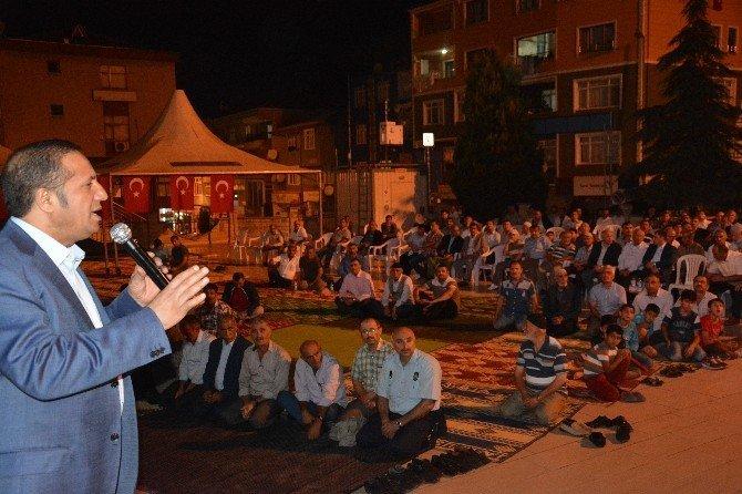 Başkan Toltar, milli irade nöbetine katılan vatandaşlara teşekkür etti