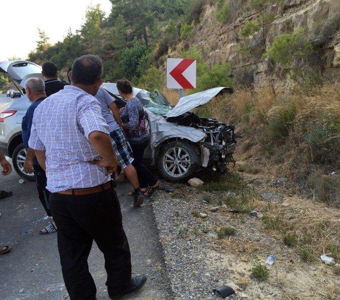Antalya'da kaza: 1 yaralı