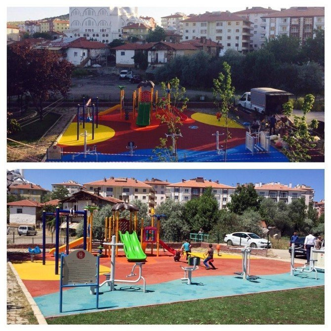 Keçiören Belediyesi parklara oyun ve spor alanları kuruyor